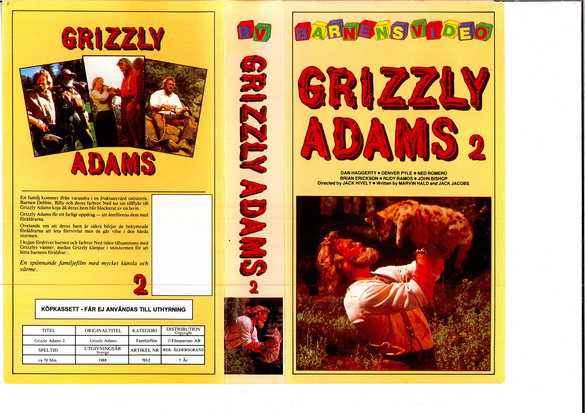 GRIZZLY ADAMS 2 (VHS)