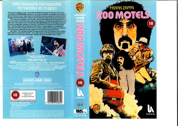 200 MOTEL (VHS) (UK-IMPORT)