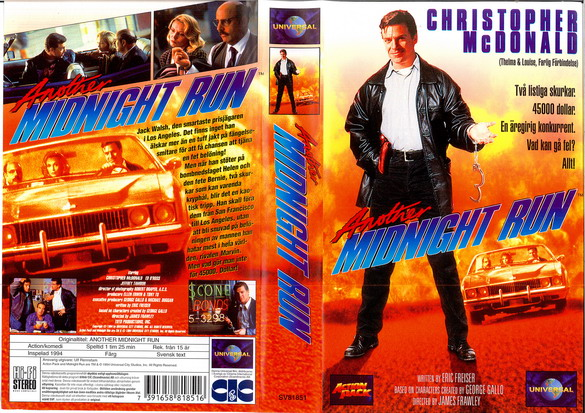 ANOTHER MIDNIGHT RUN (VHS)