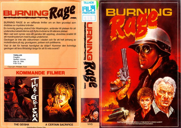 BURNING RAGE (VHS)