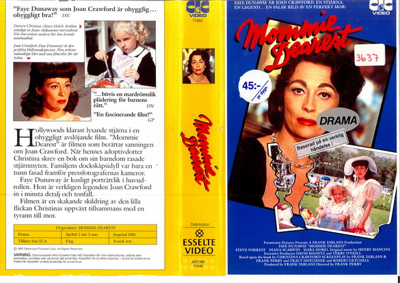 MOMMIE DEAREST (VHS)