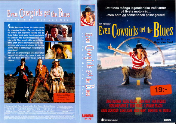 EVEN COWGIRLS GET THE BLUE (VHS)