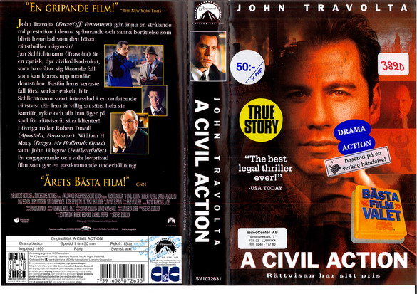 A CIVIL ACTION (VHS)