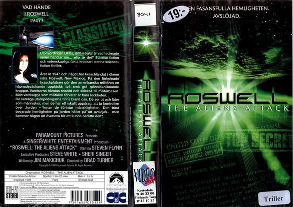 ROSWELL - THE ALIENS ATTACK (VHS)