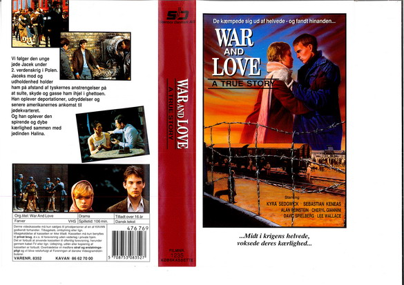 WAR AND LOVE - A TRUE STORY (VHS DK-IMPORT)