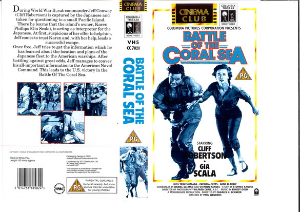 BATTLE OF THE CORAL SEA - UK (VHS)