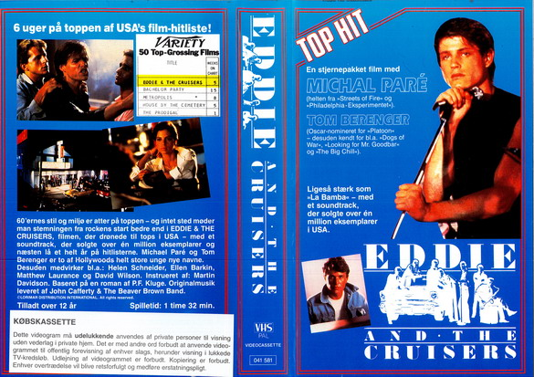 EDDIE AND THE CRUISERS (VHS DK-IMPORT)