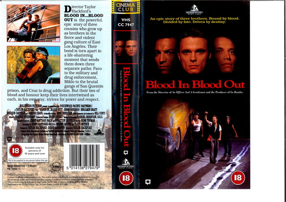 BLOOD IN BLOOD OUT - (VHS) (UK-IMPORT)