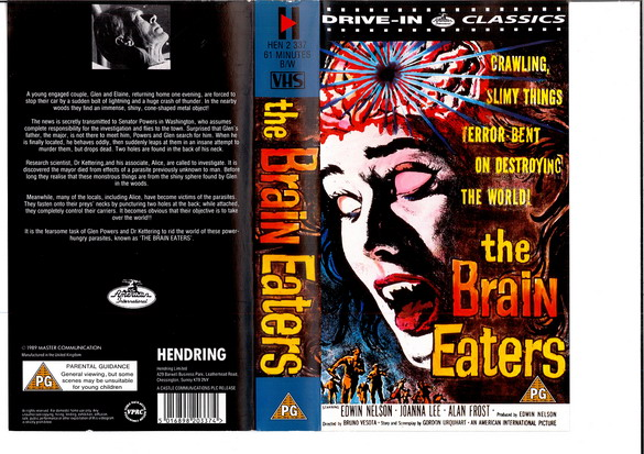 BRAIN EATERS - UK (VHS)