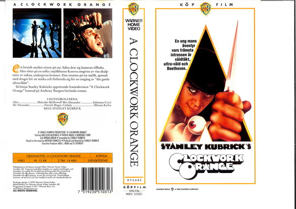 A CLOCKWORK ORANGE (VHS)  NY