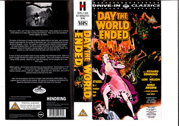 DAY THE WORLD ENDED - UK (vhs)