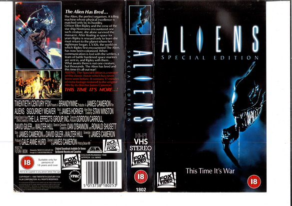 ALIENS - SPECIAL EDITION - (VHS) (UK-IMPORT)
