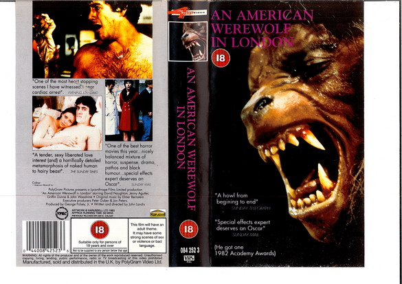 AN AMERICAN WEREWOLF IN  LONDON - UK (VHS)
