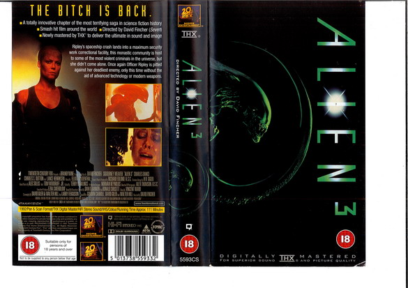 ALIEN 3 - (VHS) (UK-IMPORT)