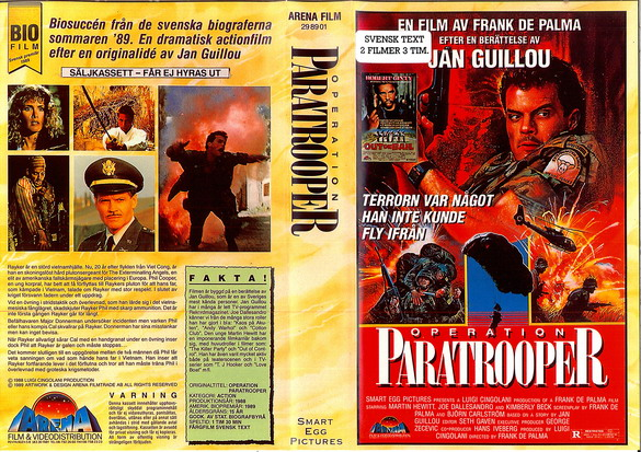 OPERATION PARATROOPER + OUT ON BAIL (VHS)