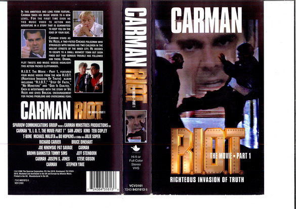 CARMAN R.I.O.T. THE MOVIE PART 1 (VHS)