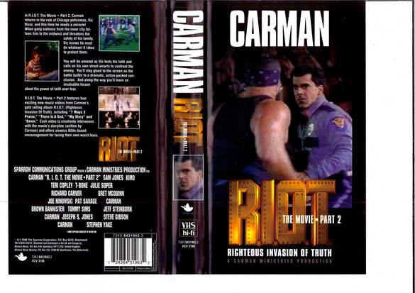 CARMAN R.I.O.T. THE MOVIE PART 2 (VHS)