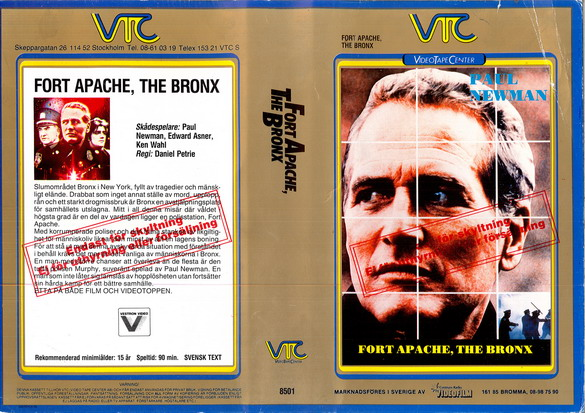 8501 FORT APACHE,THE BRONX (VHS)