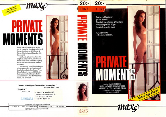 1907 PRIVATE MOMENTS (VHS)