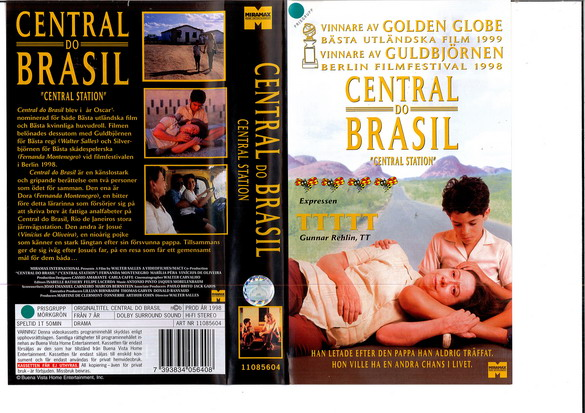 CENTRAL DO BRASIL (VHS) ny