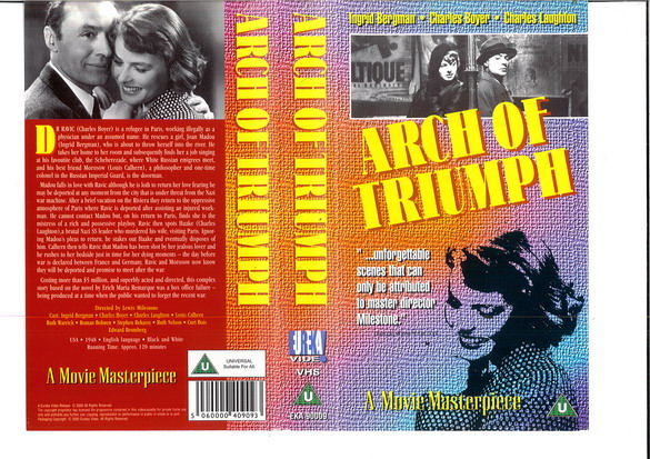 ARCH OF TRIUMPH - (VHS) (UK-IMPORT)