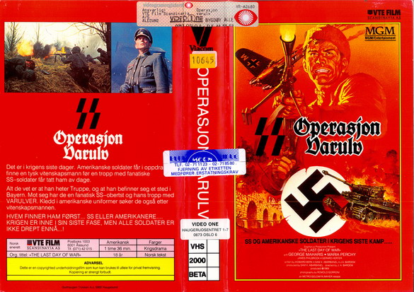OPERATION VARULV (VHS) NORGE