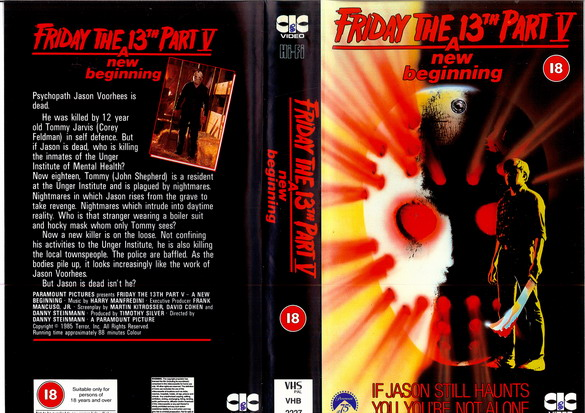 FRIDAY THE 13th 5 - UK (VHS)