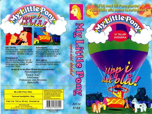 MY LITTLE PONY - UPP I DET BLÅ (VHS)