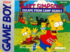BART SIMPSON'S:ESCAPE FROM CAMP DEADLY - MANUAL (DMG-TS-SCN)