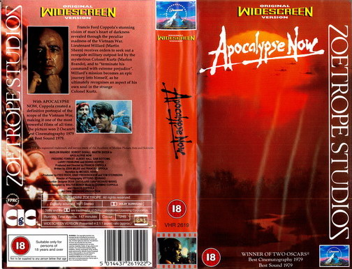 APOCALYPSE NOW (VHS) (UK-IMPORT)