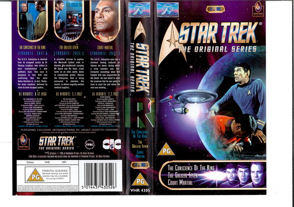 STAR TREK TOS VOL 1,5 (VHS)