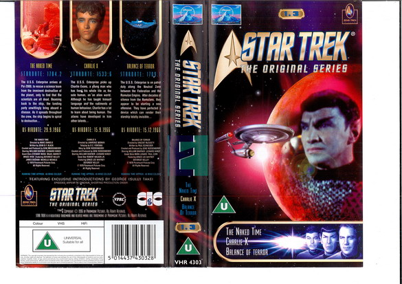 STAR TREK TOS VOL 1,3 (VHS)