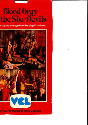 BLOODY ORGY OF THE SHE-DEVILS (VHS) UK