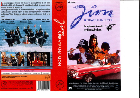 JIM & PIRATERNA BLOM (vhs)