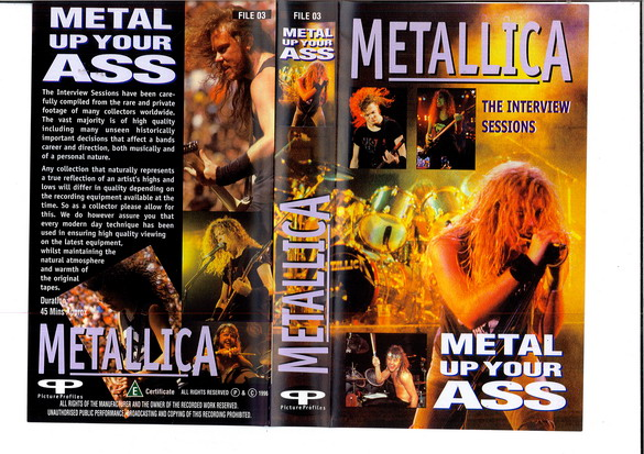 METALLICA: METAL UP YOUR ASS (VHS)