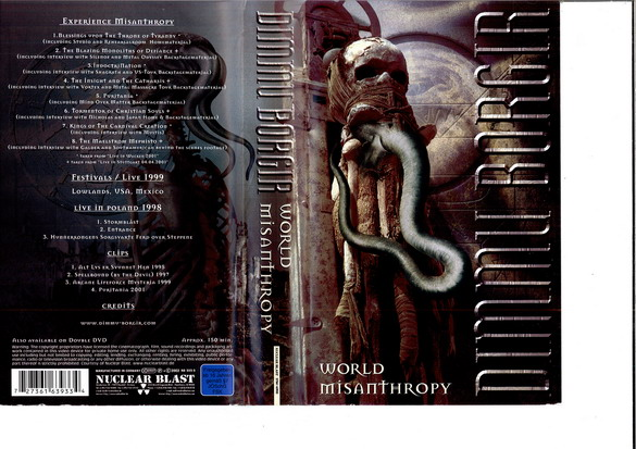 DIMMU BORGIR: WORLD MISANTHROPY (VHS)