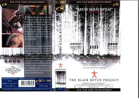 BLAIR WITCH PROJECT (VHS)