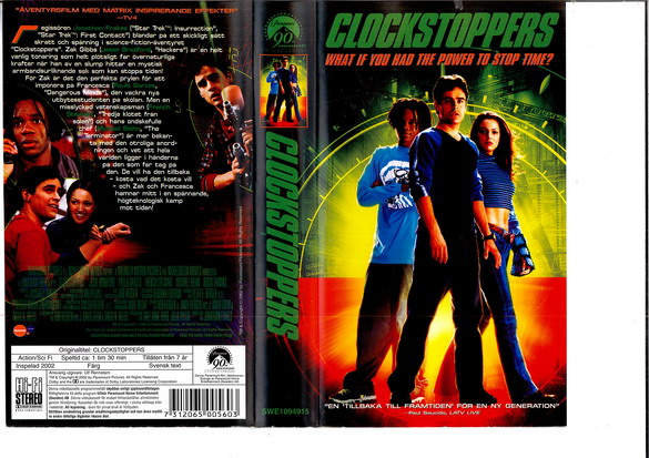 CLOCKSTOPPERS  (VHS)