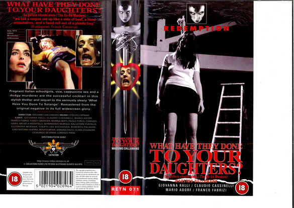 RETN 071 WHAT HAVE THEY DONE TO YOUR DAUGHTERS ? (VHS) UK
