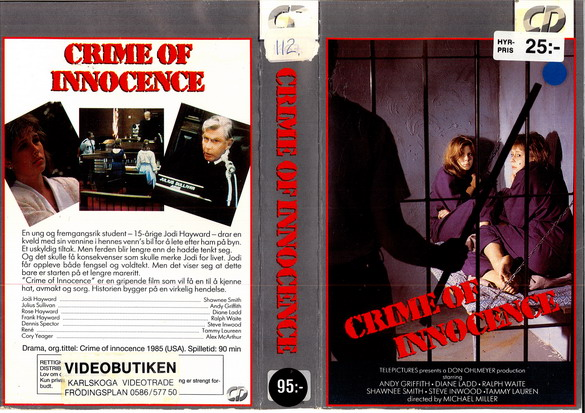 1005 CRIME OF INNOCENCE (VHS)