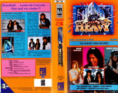 HARD N' HEAVY VOL 3 (VHS)