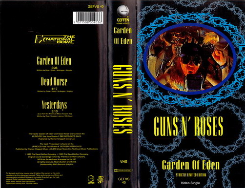 GUNS N' ROSES - GARDEN OF EDEN (VHS)