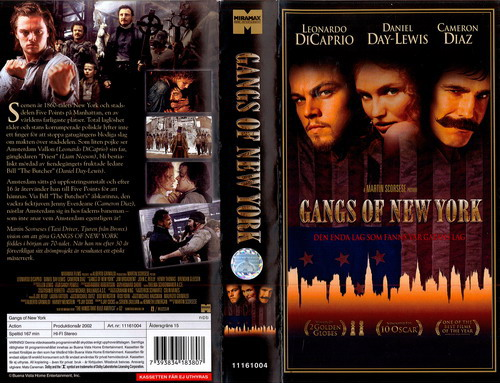GANGS OF NEW YORK (VHS)