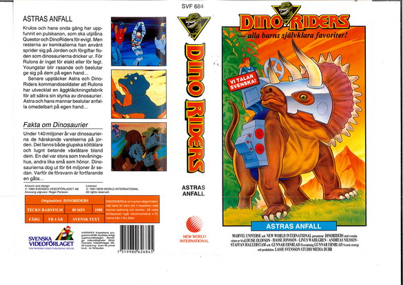 DINORIDERS - ASTRAS ANFALL (VHS)