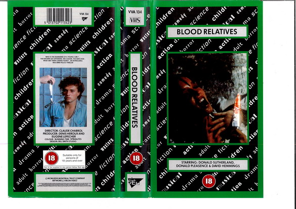 BLOOD RELATIVES (VHS) UK