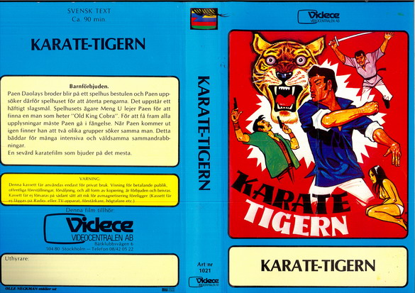 1021 KARATE-TIGERN (VHS)