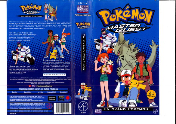 POKEMON MASTER QUEST - EN OKÄND POKEMON (VHS)