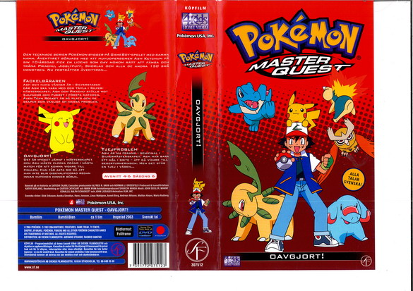 POKEMON MASTER QUEST - OAVGJORT! (VHS)