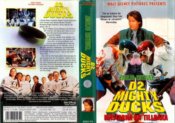 MIGHTY DUCKS-MÄSTARNA 2 (VHS)