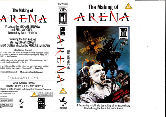 DURAN DURAN - MAKING OF ARENA (VHS)